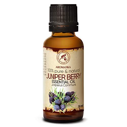 Aceite Esencial de Bayas de Enebro 30 ml - Juniperus Communis - Aromaterapia - Fragancias para el Hogar - Aroma de Coníferas - Puros Aceites de Bayas de Enebro para - Cuerpo - Difusores - Sauna