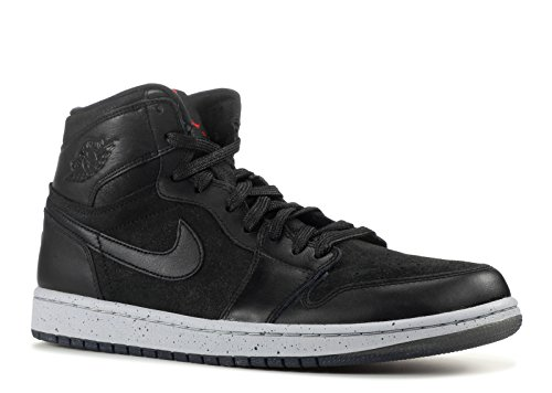 Scarpe, Nike Air Jordan 1 Retro High 'NYC' 715060-002, (black/gym red-wolf grey), 45.5 EU