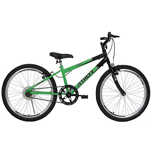 Bicicleta Aro 24 Mtb 18 Marchas Legacy Verde Athor