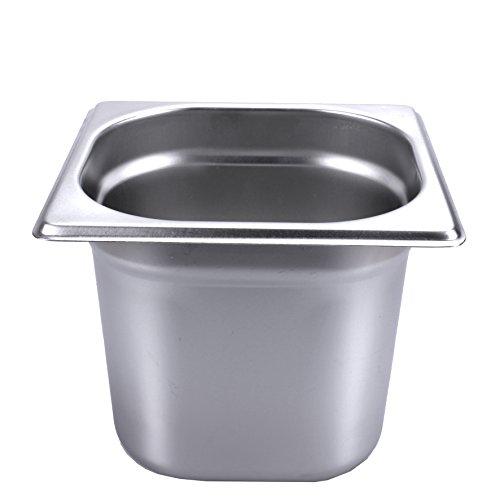 Gastronormbehälter 2,4l 150mm Behälter 1/6 GN Edelstahl Gastro Gefäß (1 l - 3,4 l und passende Deckel zur Auswahl)