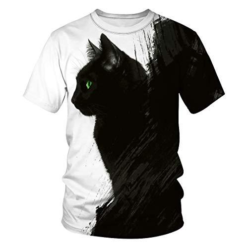 Camiseta de verano de manga corta para hombre con impresión digital Yin...