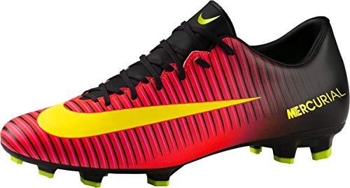 Nike Herren Mercurial Veloce III FG Fußballschuhe, Rot (Total Crimson/Volt-Black-pink Blast 870), 42.5 EU
