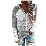 Eduavar Hoodies for Women Aesthetic,Women's Casual Long Zip Up Hoodies Tunic Hooded Sweatshirt Pullover Jacket with Pockets
