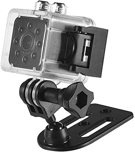 Mini cámara portátil WiFi Full HD 1080P pequeña videocámara digital grabadora de movimiento videocámara visión nocturna 155° lente gran angular con carcasa impermeable JIADUOBAO