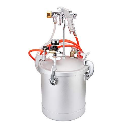 Changli Gallon 10 Liter Druck-Hochdruck-Sprühpistole, Tank-Luftfarbe, Sparienpistole, 2-1/2 Lackiermaschine