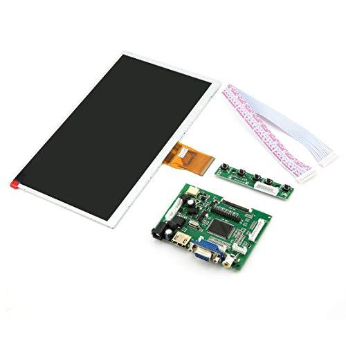 Hermosairis 9 Zoll Raspberry Pi Digitalanzeige LCD TFT Schild Display Modul HDMI + VGA + Video Treiberplatine für Raspberry Pi