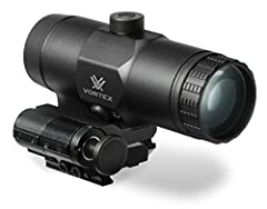 The VMX-3T Magnifier and Flip Mount combo adds a 3x magnification to your rifle's red dot sight. Simple, fast, and effective, the push button design engages and disengages the flip mount allowing the magnifier to lock in at your desired position. The...