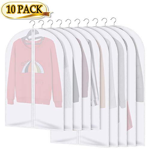 AIDBUCKS Kleidersäcke 10 Stücke Kleiderhülle Anzughülle - Langzeitaufbewahrung Von Jacke Mantel Kleider Anzug Schutz Vor Staub Motten Schäden Durchsichtiger Kunststoff 5x120x60cm 5x100x60cm