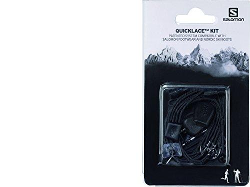 Salomon QUICKLACE KIT L32667200 Set de Cordones, Unisex, Negro