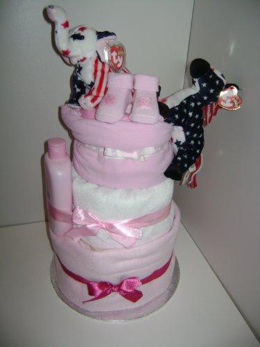 Ty Gâteau de couches à 3 étages pour fille gaucher et droitier