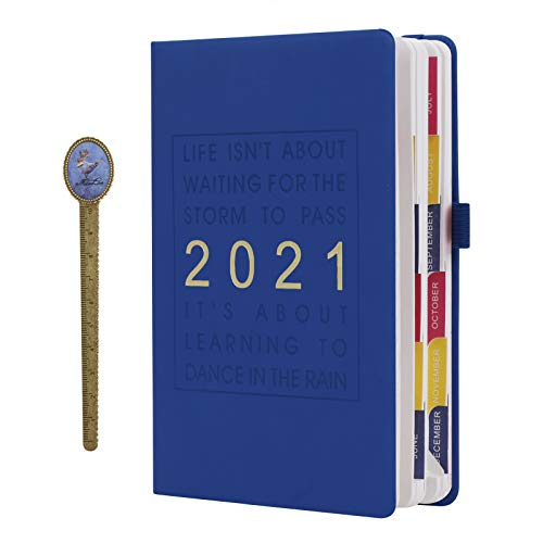 能率 手帳 2021年 a5 365日 日記帳 おしゃれ メモ帳 書きやすい しおり付き 読書ノート 雑記 記録 学生 勉強 大人 ビジネス 入学式 誕生日 記念日 プレゼント 3色