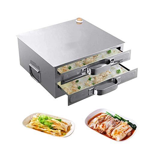 AOUSTHOP Cantonese Rice Noodle Rolls Machine, Openable Top Lid Steamed Vermicelli Roll Steamer, Rice Milk Furnace Cooking Chinese Cuisine Recipes Cookware, Vegetables Seafood Dumplings Steamer