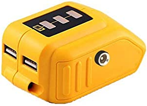 20V Max Power Source for Dewalt Heated Jacket DCB091 Converters with USB and 12V Outlets Fit for Lithium Battery