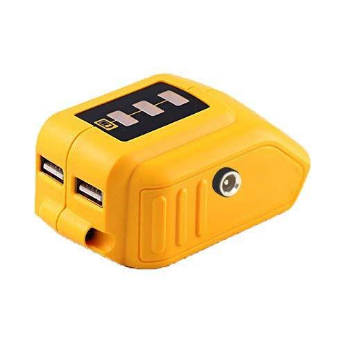 weqcter 20V Max Power Source for Dewalt Heated Jacket DCB091 Converters with USB and 12V Outlets Fit for Dewalt 20V Battery