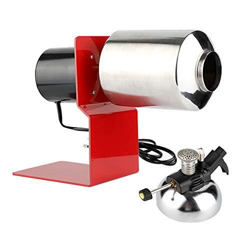 TOPQSC Tostador de Granos de café 120G Tostadora de café para hogar,para Uso doméstico Hecho de Acero Inoxidable 304 de Grado alimenticio con Estufa de Gas