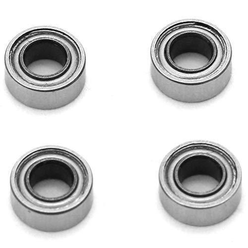 Eenrijig kogellager, 4 stuks SMR63ZZ roestvrij staal Eenrijig kogellager, 3 mm boring, 6 mm buitendiameter, 2,5 mm dikte