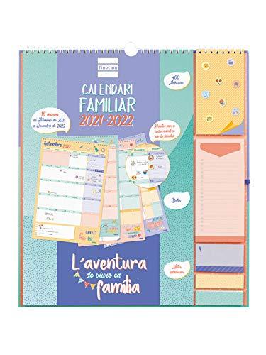 Finocam - Calendario de Pared Familiar Aventura Plus 16 meses 2021 2022 340x380 Mes Vista Catalán