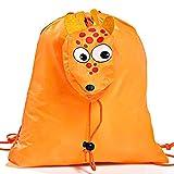 Lote de 20 Mochilas Plegables Animales Jirafa. Color Naranja - Mochilas Escolares, Guarderías, Colegios, Ofertas
