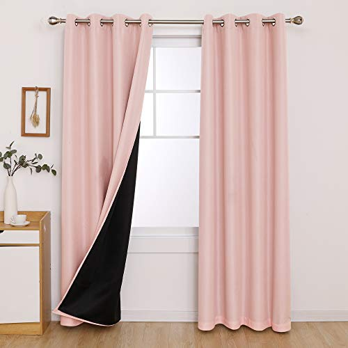 Deconovo Fully Blackout Curtains Sun Blocking Noise Cancelling Double Layer...