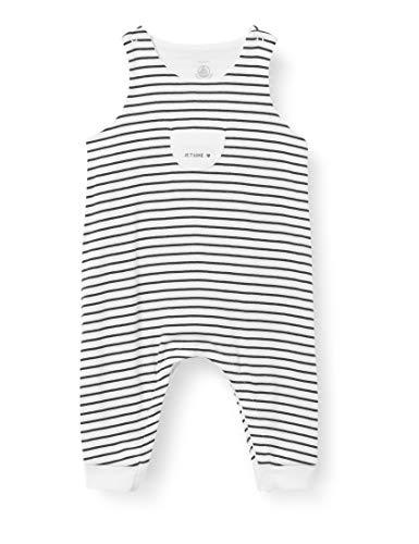 Petit Bateau 5977401 Mono, Marshmallow/Smoking, Naissance para Bebés