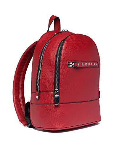 Replay Damen Fw3837.000.a0132d Rucksack, Rot (Gloss Red), 13x31x24 cm