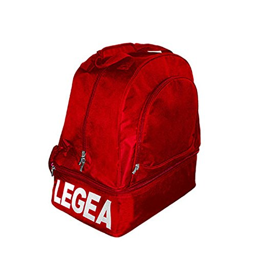 LEGEA BORSA NUORO CON FONDO PIEGHEVOLE ATLETICA CALCIO COMPLETO BAGS LINE TORNEO SPORT 50x36x56 cm (ROSSO, 50x36x56 cm)