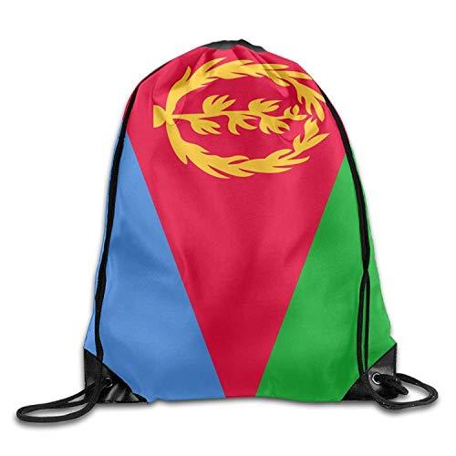 Flag Of Eritrea Cooler Turnbeutel mit Kordelzug, Reiserucksack, Schulrucksack