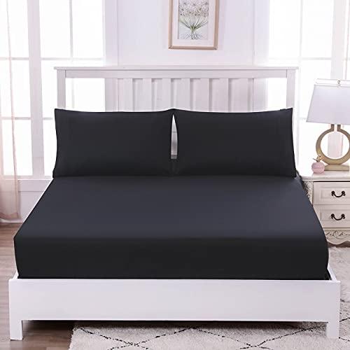 IKITOBI Sábanas de cama para cama de matrimonio, cama de 1,0 m, 100 x 200 cm
