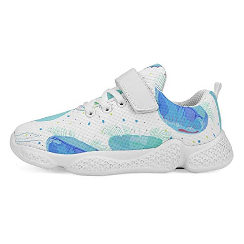 YxueSond - Zapatillas deportivas antideslizantes para esquí, calle o deporte o calle, color azul, Infantil, blanco, 32