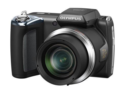 Olympus SP-620UZ Digitalkamera (16 Megapixel, 21-fach opt. Zoom, 7,6 cm (3 Zoll) Bildschirm, bildstabilisiert) schwarz