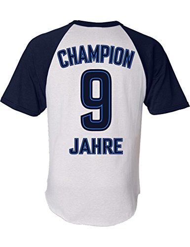 Geburtstags Shirt: Champion 9 Jahre - Sport Fussball Trikot Junge T-Shirt für Jungen - Geschenk-Idee zum 9. Geburtstag - Neun-TER Jahrgang 2011 - Fußball Club Fan Stadion Mannschaft (164)