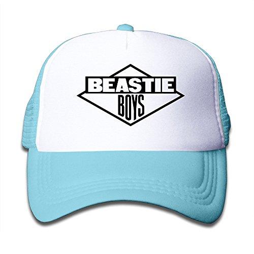Feruch Macthy Beastie Boys Band Logo Boy's Mesh Snapback Hat Cap Sky Blue