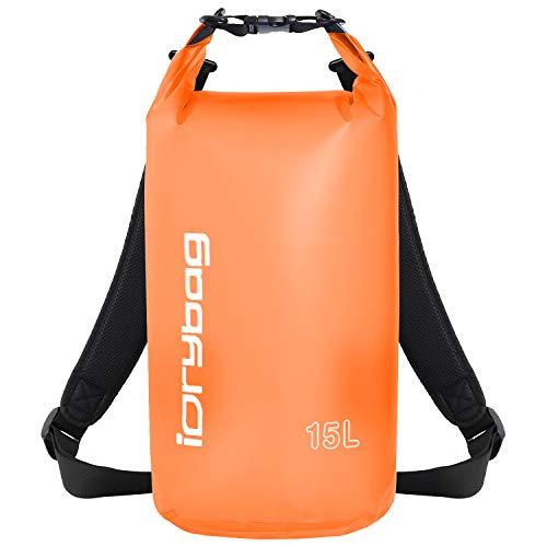 IDRYBAG Clear Dry Bag Waterproof Floating 2L/5L/10L/15L/20L, Lightweight Dry Sack Water Sports,...