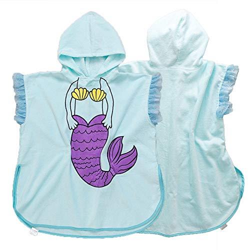 Strandsurf Poncho Badjas Organisch Katoen Kinderen Baby Wetsuit Badkleding Veranderende Handdoek Strand Badjas Strand Hooded Badhanddoek Voor Unisex Peuter Voor Baddouche Geweldig om te veranderen bij het zwembad o