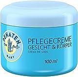 Crema de cuidado facial y cuerpo Penate, 100 ml, hidratante, para el cuidado diario de la piel sensible del bebé (3 x 100 ml)