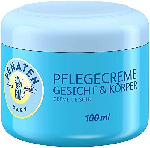 Penaten Pflegecreme Gesicht & Körper 100ml – Feuchtigkeitsspendende Creme für die tägliche Pflege empfindlicher Babyhaut (3 x 100ml)