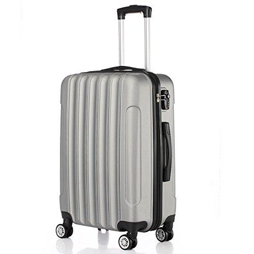 Tidyard Wheels Suitcase,3-in-1 Multifunctional Large Capacity Traveling Storage Suitcase Silver Gray