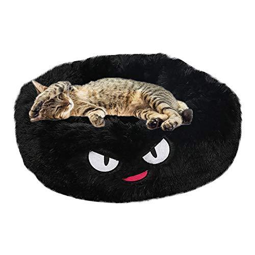 HOSui Cama para Mascotas De Dibujos Animados Creativos Felpa CóModa Nido para Mascotas Sofá para Mascotas Cama para Perros PequeñOs Cama para Gatos Black,Medium