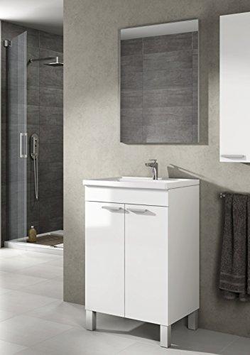 Mueble lavabo baño-aseo pequeño espejo incluido
