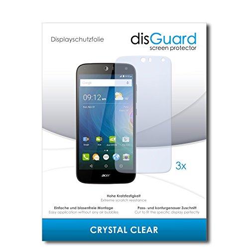 disGuard® Bildschirmschutzfolie [Crystal Clear] kompatibel mit Acer Liquid Z630S [3 Stück] Kristallklar, Transparent, Unsichtbar, Extrem Kratzfest, Anti-Fingerabdruck - Panzerglas Folie, Schutzfolie