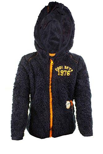 lupilu® Jungen Coole Teddy Fleecejacke Kuschelig Warm hoher Navy 98/104