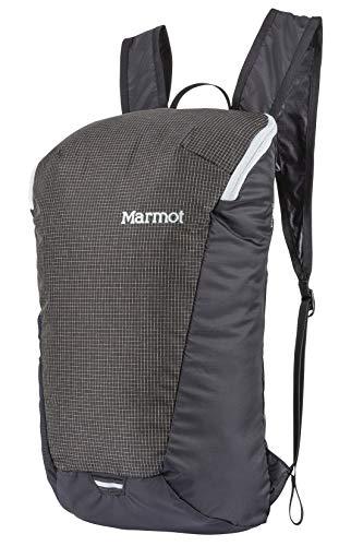 Marmot Kompressor Comet Sac à dos Ultra Léger, Petit Sac A dos de randonnée, Sac A dos pour un jour, capacité 14 L, Poids de 150 G seulement Black/Slate Grey FR: Taille Unique (Taille Fabricant: 14 L)