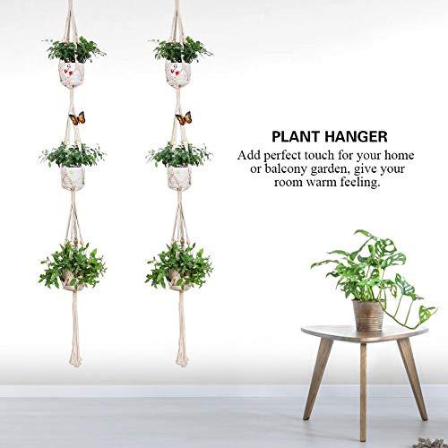 Handgemaakte opknoping touw Macrame bloempot houder Plant Hanger opknoping mand voor tuin Decor