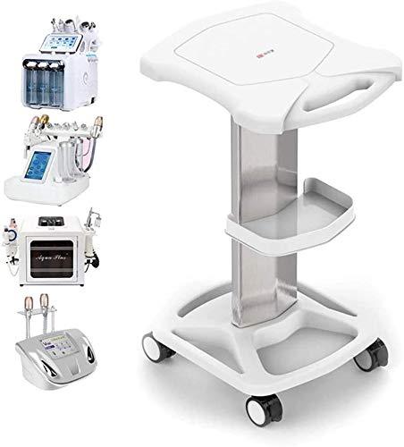 Salon Trolley Cart - Aluminum Mobile Trolley Stand Medical Rolling Carts for Ultrasonic Cavitation RF Machine Manicure Spa Shelf (White)