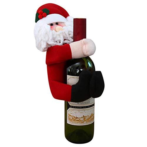 barsku Soporte de botella de vino de Navidad Hugger Holder, Papá Noel/muñeco de nieve Cubierta de botella de vino...