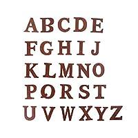 luosh26個木製アルファベット文字A-Z文字英語アルファベットパーソナライズされた名前デザイン子供が飾って表示するためのクラフト装飾