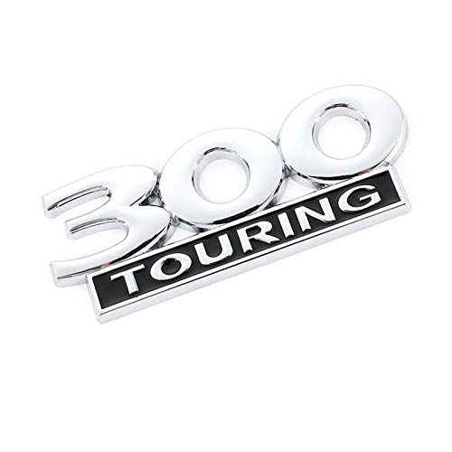 Car Hood Emblems Car Sticker Metal compatible with 300 Touring Emblem Badge Motorcycle Trunk Decals compatible with Dodge Jeep Chrysler Viper GTS 2019 Vespa GTS 300 Touring Car Decoration Ornament