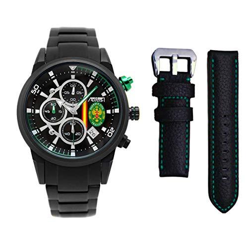Pack Reloj + Correa Guardia Civil Tráfico Aviador AV-1212-8