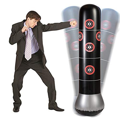 yuanzhou Coluna inflável de boxe com bomba de ar inflável, saco de areia, saco de pancada, suporte de alvo de fitness, bolsa de torre