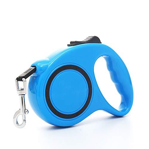 N\A Ausziehbare Hundeleine für mittelgroße und kleine Hunde, einziehbar, 5 m, Blau